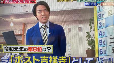 2019/12/18放送<br>テレビ朝日「お願いランキング」の撮影